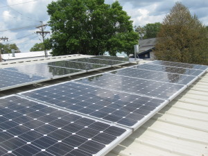 Bird's Eye view of IEA's 3KW solar installation.